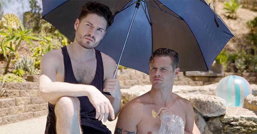 Alex Dyon and Drew Canan in 'Bad Pool Boy'