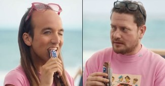 """A new Snickers ad seemed to imply the candy bar could turn gay men straight which would be """"better"""""""