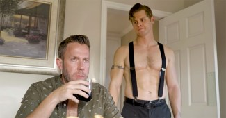 """Artie O'Daly and Drew Canan in the latest installment of the """"Bad Boy"""" web series"""