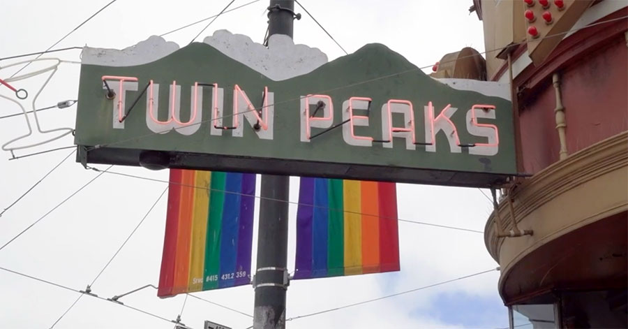 Sign for Twin Peaks Tavern in San Francisco (screen capture)