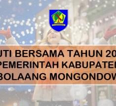 Pemkab Bolmong Tindaklanjuti SK Cuti Bersama Natal