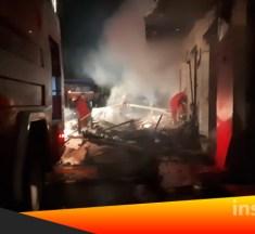 4 Mobil Damkar Atasi Kebakaran di Pasar Pocil