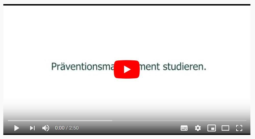 Imagefilm zum Studiengang Präventionsmanagement.