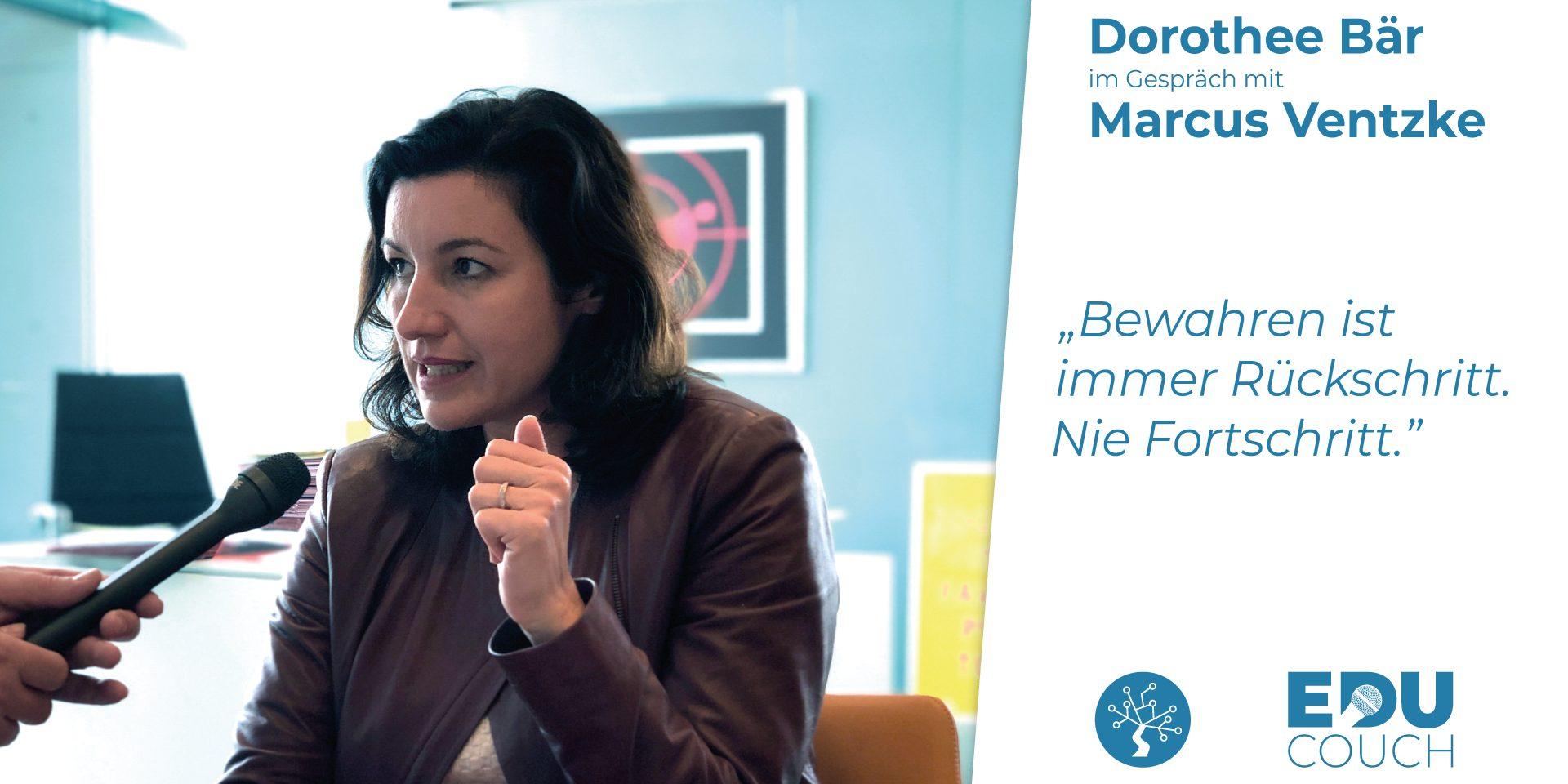 Dorothee Bär im Gespräch mit Marcus Ventzke bei der EduCouch