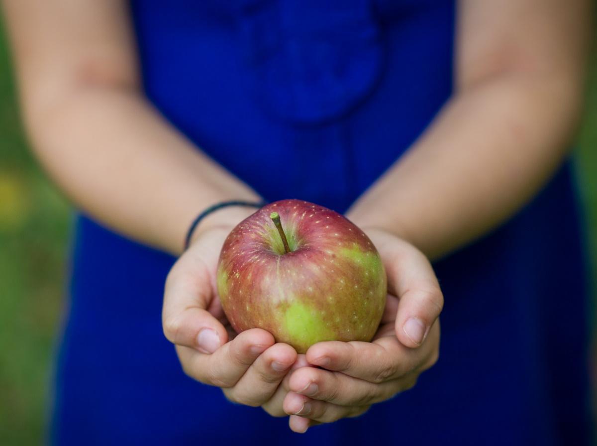 Apfel im veganen Menü