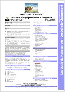 MPR-CCOUTILS-2 - Les outils de la conduite du changement