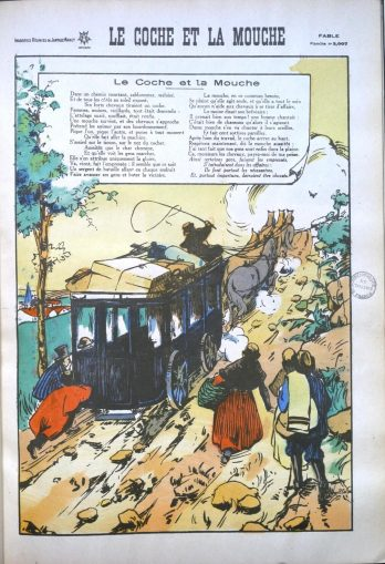 La Mouche Et Le Coche : mouche, coche, Coche, Mouche, Fontaine., Fables, Images, Institut, France