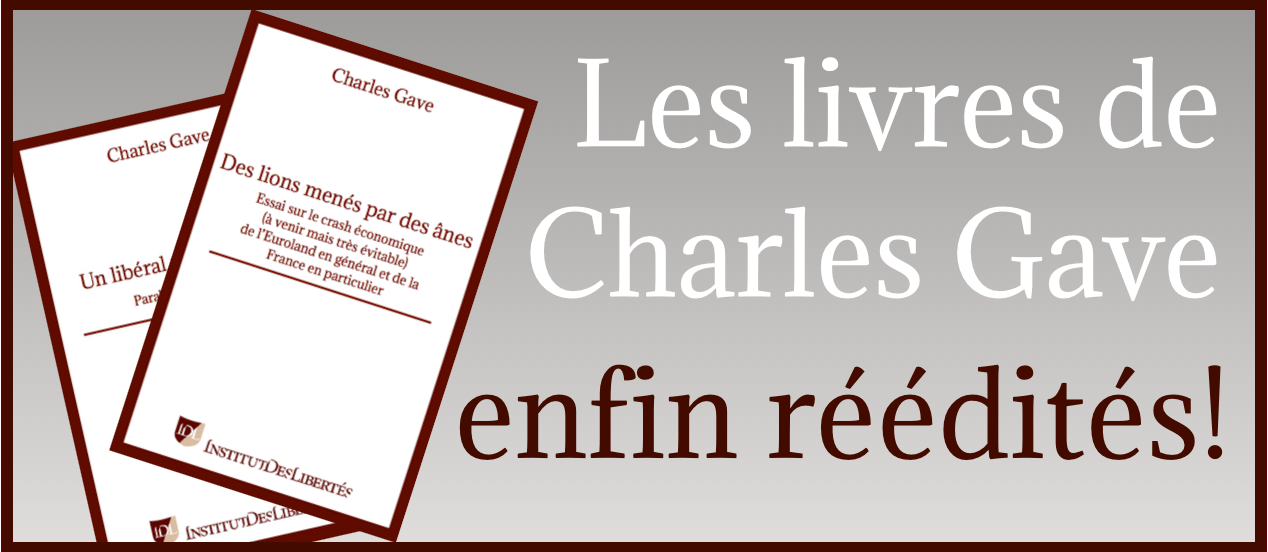 Rééditions livres Charles Gave