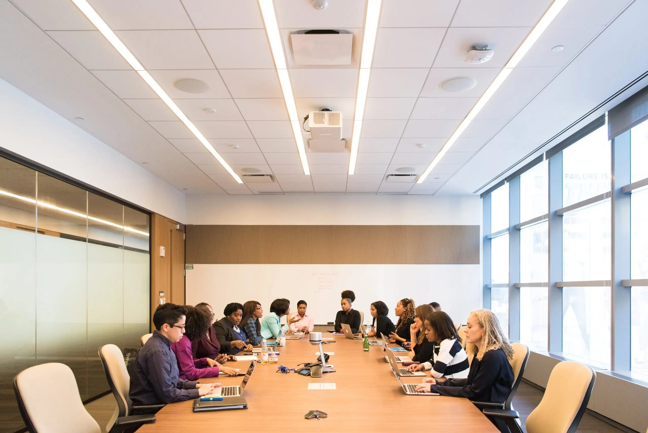 Image of a group of people meeting in Conference Room