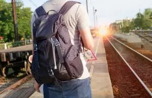 Traveling student taking a gap year perhaps part of the double class