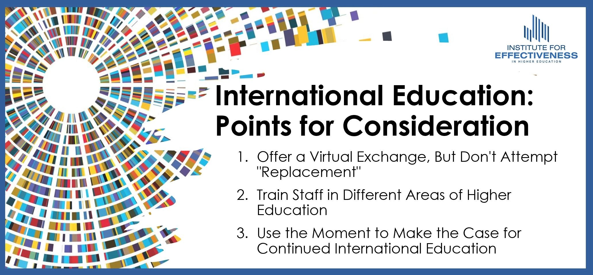 International Education Points for Consideration Infographic