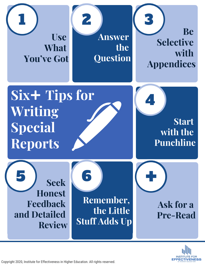 6+ Tips for Writing Special Reports