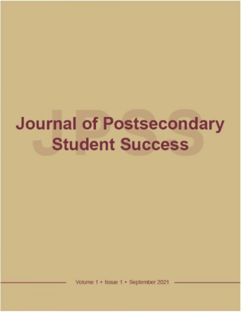 Journal of Postsecondary Student Success Cover