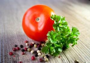 tomato, parsley, pepper