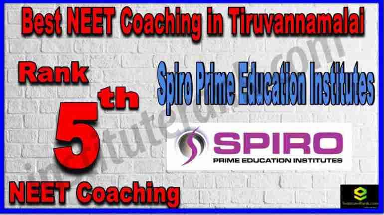 Rank 5th Best NEET Coaching in Tiruvannamalai