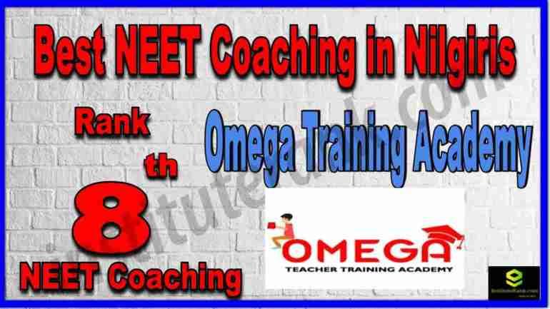 Rank 8th Best NEET Coaching in Nilgiris