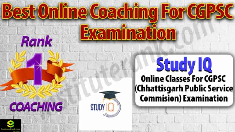 Best Online Coaching for CGPSC Examination