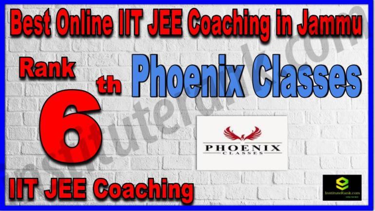 Rank 6th Best Online IIT JEE Coaching in Jammu