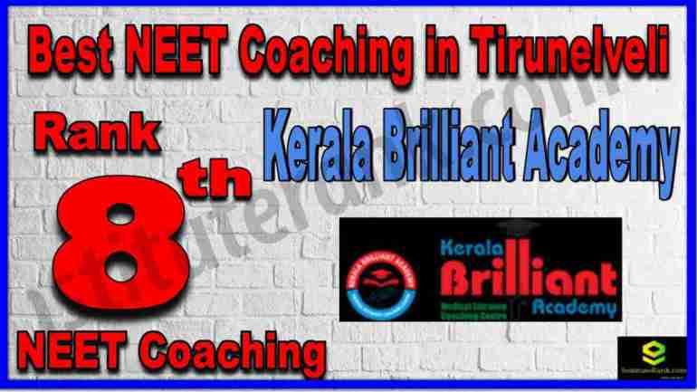 Rank 8th Best NEET Coaching in Tirunelveli