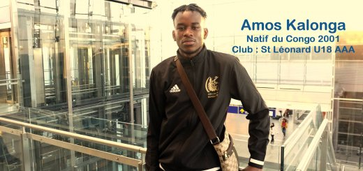 Institut jmg try out RC Lens depart paris Amos Kalonga