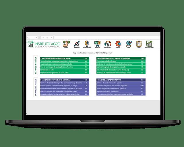 Planilha gratuita para planejamento estratégico (Matriz SWOT)