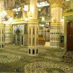 El jardín (Raudah) en la mezquita del Profeta