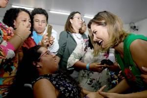 No Guará, Michelle Bolsonaro participa de evento de inclusão digital