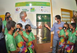 Ronaldo Caiado inaugura laboratório tecnológico Include em Alto Paraíso