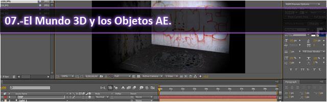 El Mundo 3D y Objetos AE