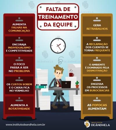 Infográfico Instituto Deândhela Falta de treinamento da equipe