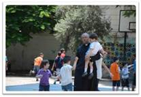 Apostolado con niños en la franja de Gaza