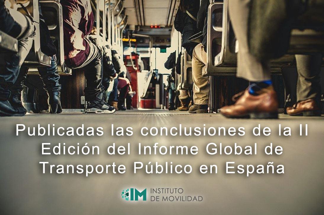 Publicadas las conclusiones de la II Edición del Informe Global de Transporte Público en España