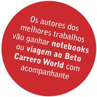aos autores dos melhores trabalhos vão ganhar notebooks ou viagem ao beto carrero world