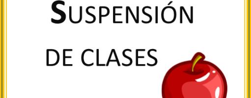 SUSPENCIÓN DE CLASES MIÉRCOLES 10 MAYO.