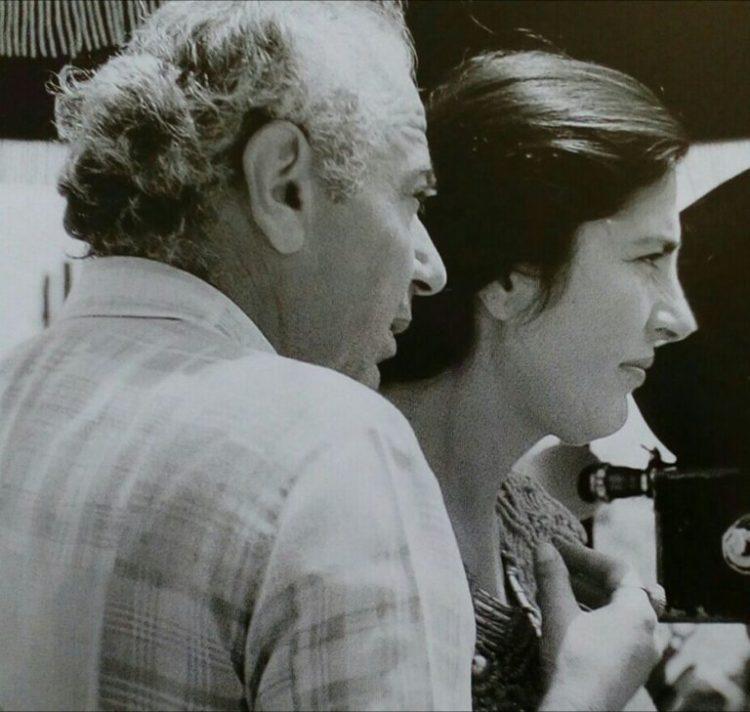 Michael Cacoyannis e Irene Papas durante a rodagem de Ifigênia