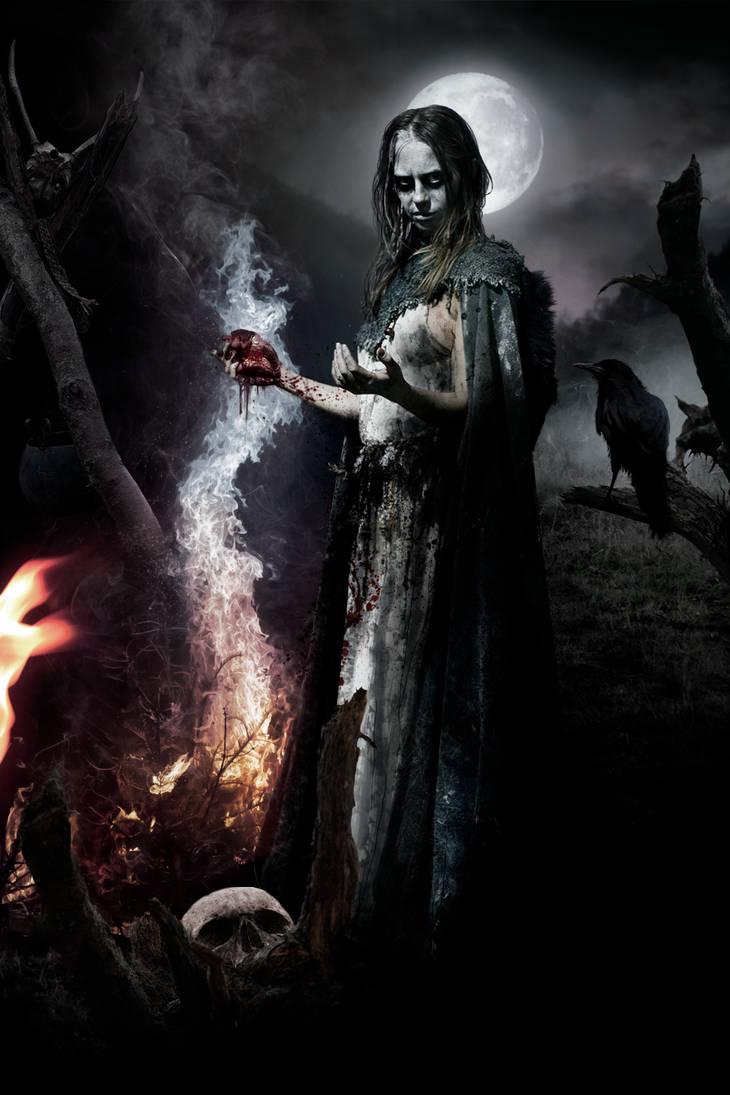 Interpretação um tanto sombria da feiticeira pelo artista Gavin Hargest
