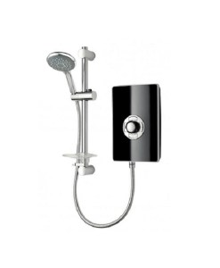 Triton Aspirante Electric Shower 9.5Kw - Black Gloss