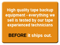 Tech tested tape backup equipment from InStock