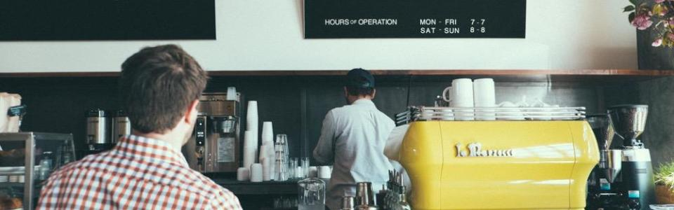 Barista in a cafe