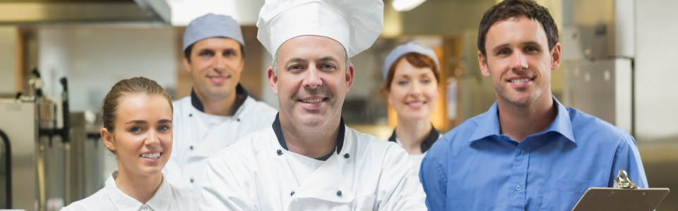 Head chef with team
