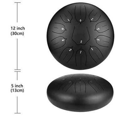 2.OcarinaWind 12 inches Steel Tongue Drum