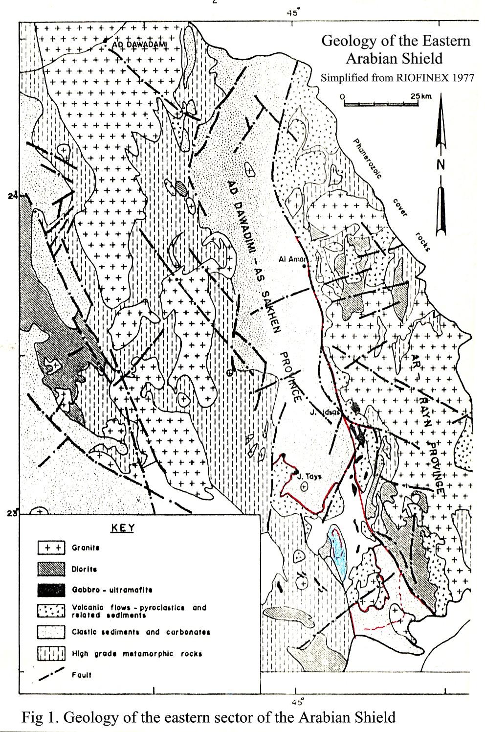 GEOLOGY OF THE JABAL IDSAS REGION