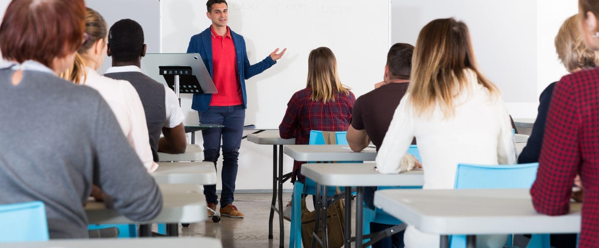 teacher lecturing class