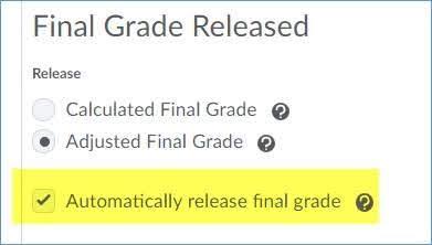 Release final grade