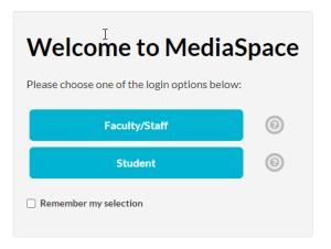 kaltura medaspace login choose login option