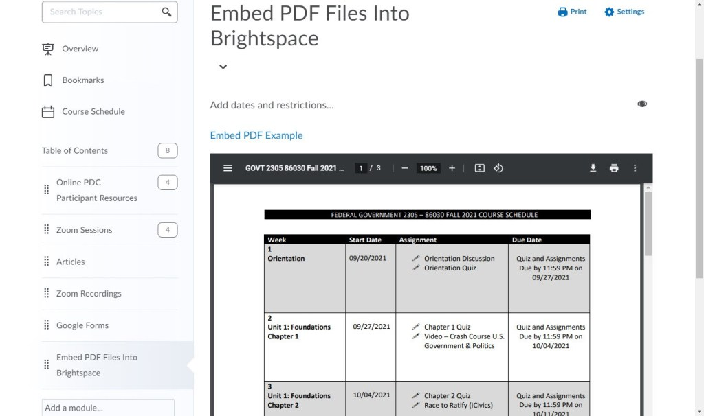 brightspace embed pdf final embed view