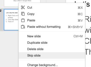 Skip (Hide) a Slide in a Google Slides Presentation