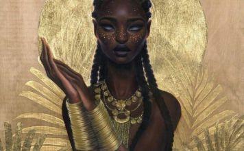 African woman instrumental