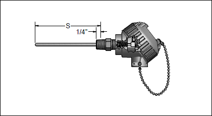 Fixed-Sheath Thermocouple Assemblies with General-Purpose