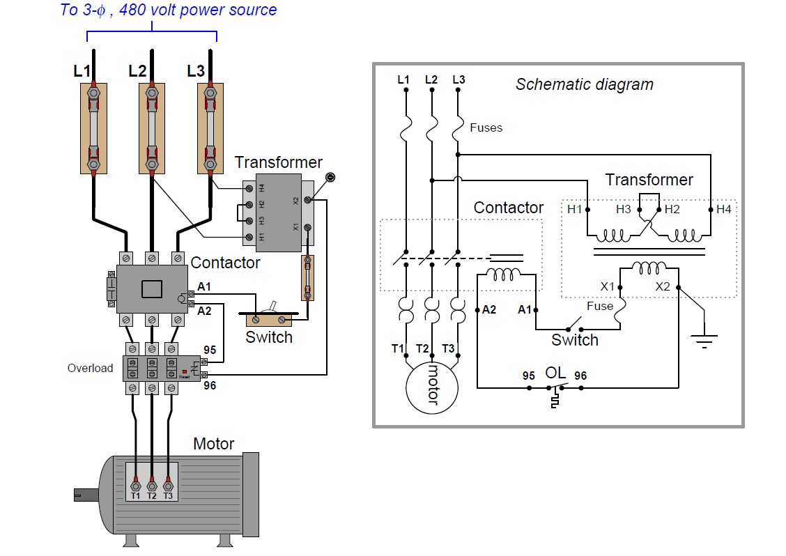 Motor Control Panel Wiring Diagram